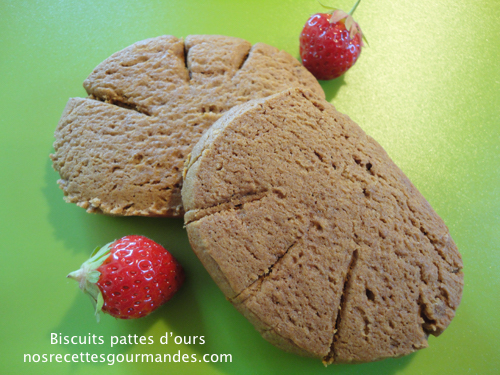 "Biscuits ""pattes d'ours"" maison"